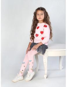 """Колготки розового цвета для девочек """"Бабочки"""""""