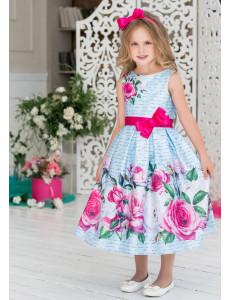 """Платье-миди нарядное голубого цвета """"Марибель"""""""