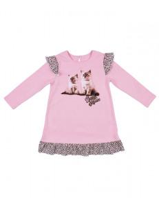 """Платье для девочек розового цвета """"котята"""""""