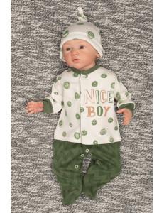 """Комбинезон зеленого цвета для малышей  """"Nice boy"""""""